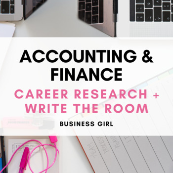 Accounting and Finance Career Research & QR Code Scavenger Hunt