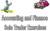 Accounting and Finance Sole Trader Exercises and Solutions