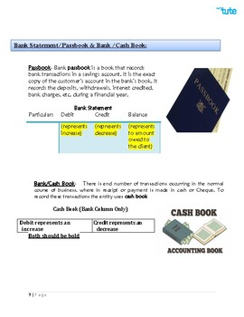 Checking Accounts | Bank Reconciliation Statement | Assessments and Worksheets