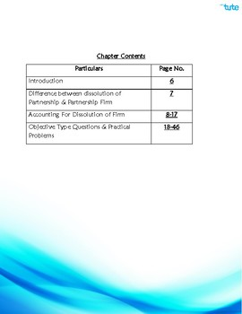 Accounts   Dissolution of Partnership   Assessments and Worksheets