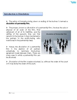 Checking Accounts   Dissolution of Partnership   Assessments and Worksheets