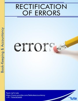 Accounts   Rectification of errors   Assessments and Worksheets
