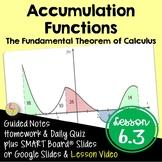 Accumulation Functions (Calculus - Unit 4)