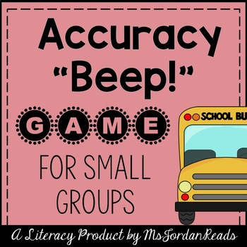 Accuracy BEEP! -- Back to School Decoding & Fluency Game