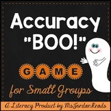 Accuracy BOO! -- Halloween Decoding & Fluency Game