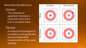 Accuracy, Precision, and Error Powerpoint