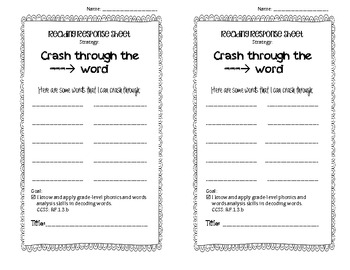 Accuracy Reading Response Journals