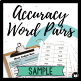 Accuracy Word Pairs: SAMPLE Packet for Assessment & Practice