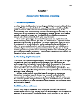 Ace Critical Thinking 10: Researching for Informed Thinking