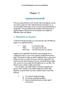 Ace Critical Thinking for Success 12: Arguing Persuasively