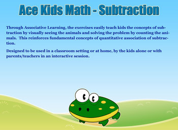 Ace Kids Math - Subtraction Learn Visually