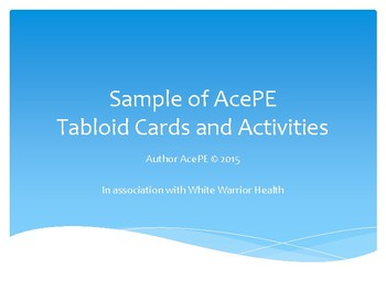 AcePE Health and Fitness Tabloid & Station Cards