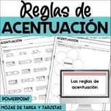 Accents in Spanish/Acentuación/Acentos/Reglas de acentuación