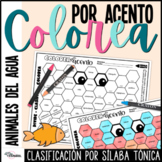 La Acentuación Colorea por Acento | Spanish Accents Worksh