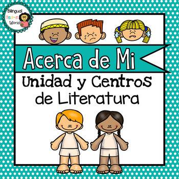 Acerca de Mi Unidad y Centros de Literatura / All About Me Literacy Centers *SP*