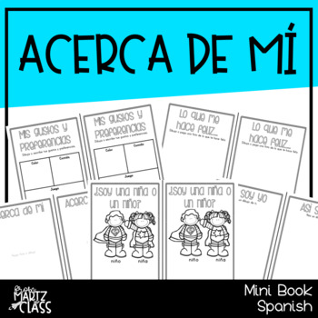Acerca de mí (Mini libro) ONLY SPANISH