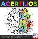 Acertijos / 5 word puzzles in Spanish