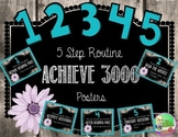 Achieve 3000 (5 Steps) Shabby Chic Posters