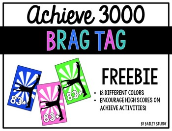 Achieve 3000 Brag Tag