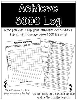 Achieve 3000 Log *Editable*