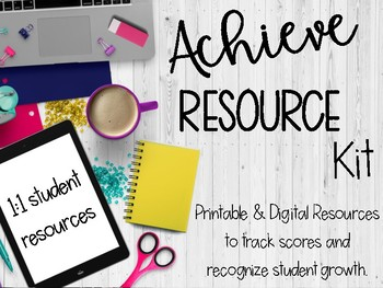 Achieve 3000 Resource Kit: Motivation and Data Tracking; 1:1 compatible