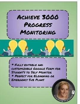 Achieve 3000 Work Monitoring Worksheet