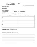 Achieve 3000 Worksheet