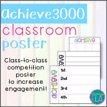 Achieve 3000 - Classroom Competition Poster