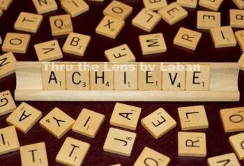 Achieve Letter Tiles Stock Photo #206