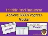 Google Docs: Achieve Reading Comprehension Data Progress Tracker