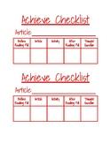 Achieve3000 Checklist