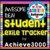Achieve3000 Student Lexile Tracker