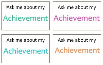 Achievement Award Badges - Ask me about my Achievement