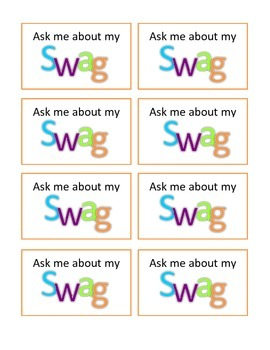 Achievement Award Badges - Ask me about my Swag