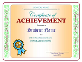 Achievement Award - Projects, Activities, End-of-Year