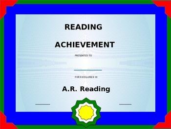 Achievement Award Template