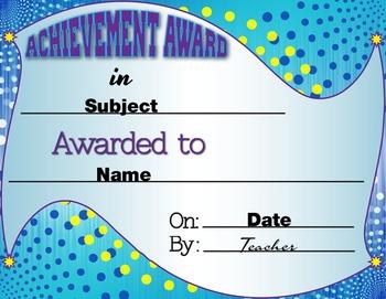 Achievement Awards (Editable 3-pack)