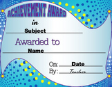 Achievement Awards (Editable 3-pack)