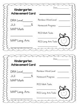 FREEBIE: Achievement Card