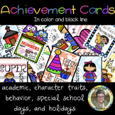 Achievement Cards  English to Tarjetas de logros (Brag Tags en español)