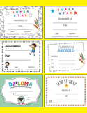 Achievement Certificates - Star Student, Super Star, Diploma, Awarded to etc..
