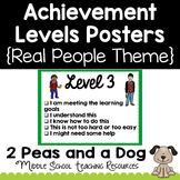 Achievement Levels Posters Real People Theme