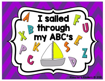 Achievement Posters - Sailed through ABC's-Flew to 100-Raced through Sight Words