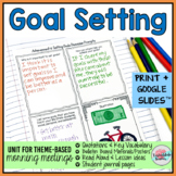 Goal Setting Activities | Goal Setting Morning Meeting Theme in Literature