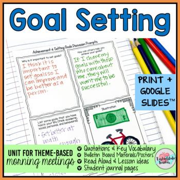 Morning Meeting Goal Setting Achievement Theme