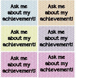 Achievement and Goal Setting Badges