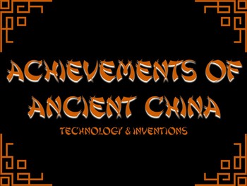 Achievements of Ancient China