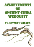 Achievements of Ancient China Webquest