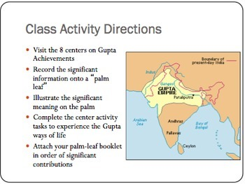 Achievements of Gupta Notes Ppt & Class Centers Activity World History