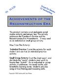 Achievements of the Reconstruction Era